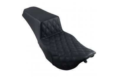 Black Friday Sale - Saddlemen Step-Up LS Front Lattice Stitch 2-up Seat - 897-06-172