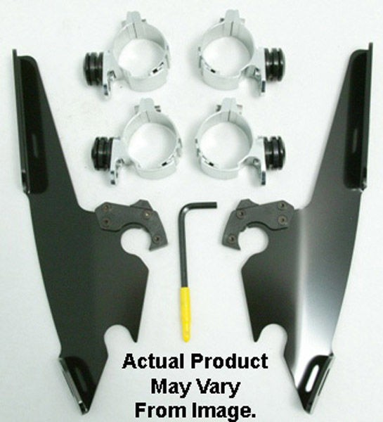 Black Friday Sale - Memphis Shades Fats/Slims/Batwing Fairing Black Trigger Lock Mount Kit - MEB8977
