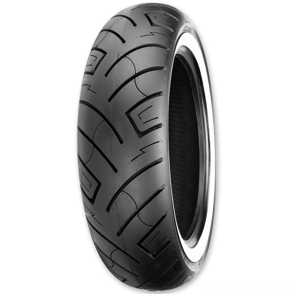 Black Friday Sale - Shinko 777 130/90-16 Wide Whitewall Rear Tire - 87-4595