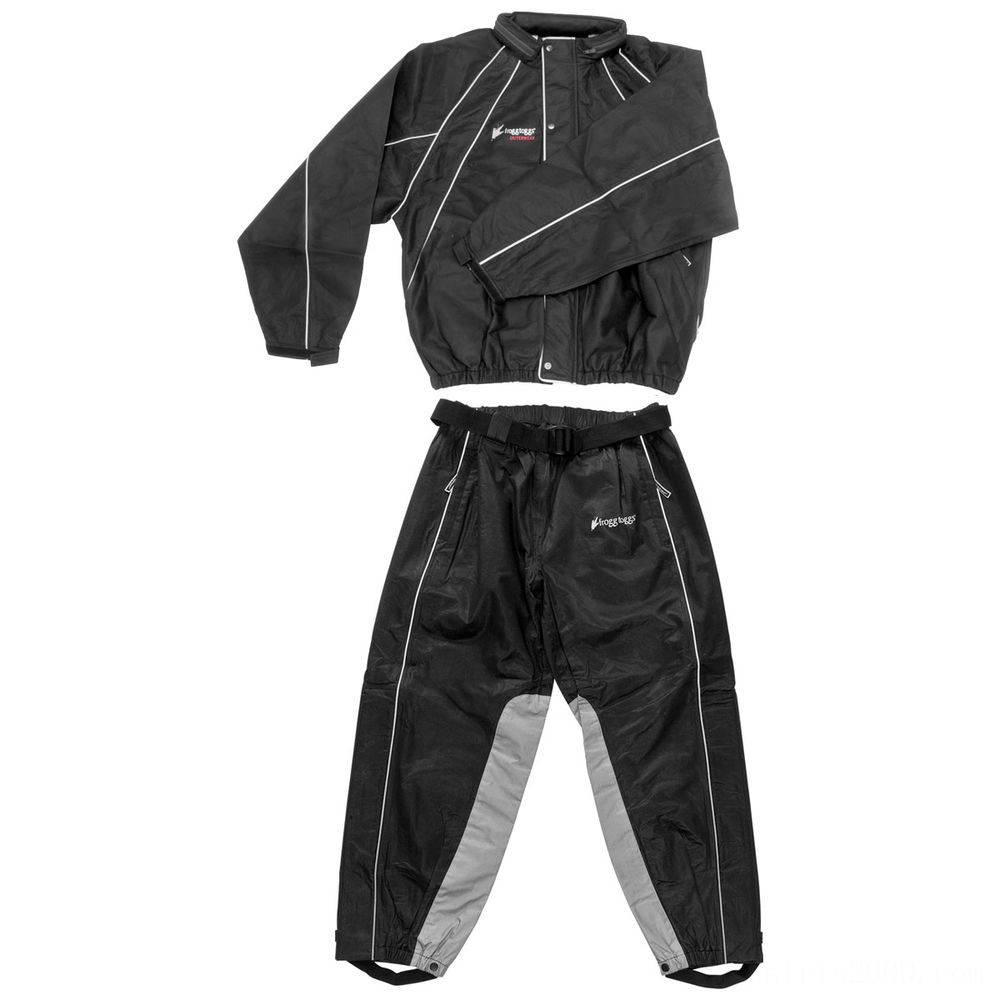 Black Friday Sale - Frogg Toggs Hogg Togg Black Rain Suit with Heat Resistant Leg Liners - FTZ10323-01XL