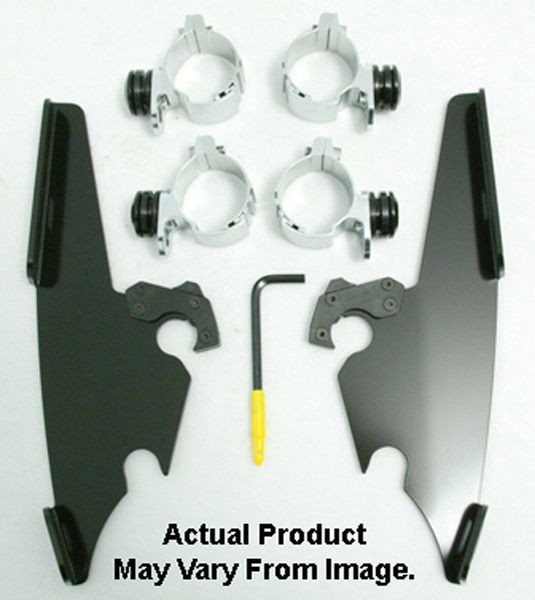 Black Friday Sale - Memphis Shades Fats/Slims/Batwing Fairing Black Trigger Lock Mount Kit - MEB8982