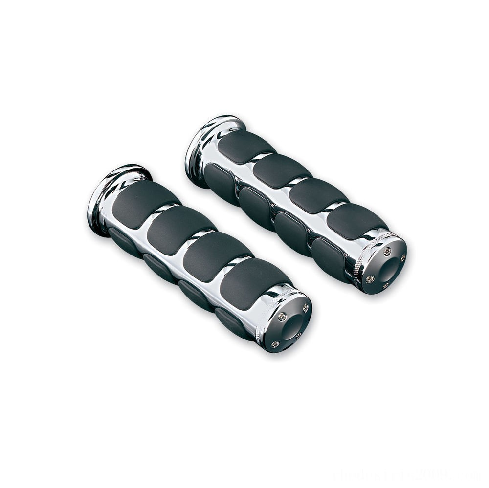 Black Friday Sale - Kuryakyn Motorcycle Specific Chrome ISO Grips - 6235