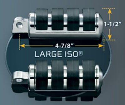 Black Friday Sale - Kuryakyn Large ISO-Pegs with Clamps - 8033