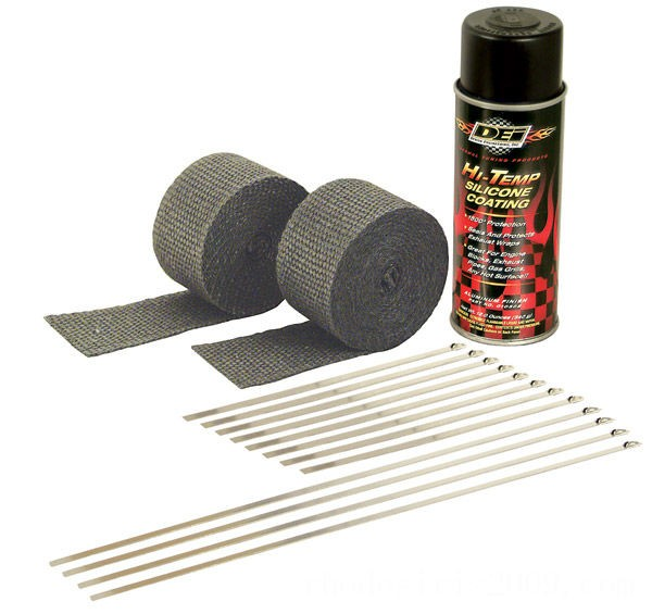 Black Friday Sale - Design Engineering Inc. Motorcycle Exhaust Wrap Kit with Black Wrap - 010330
