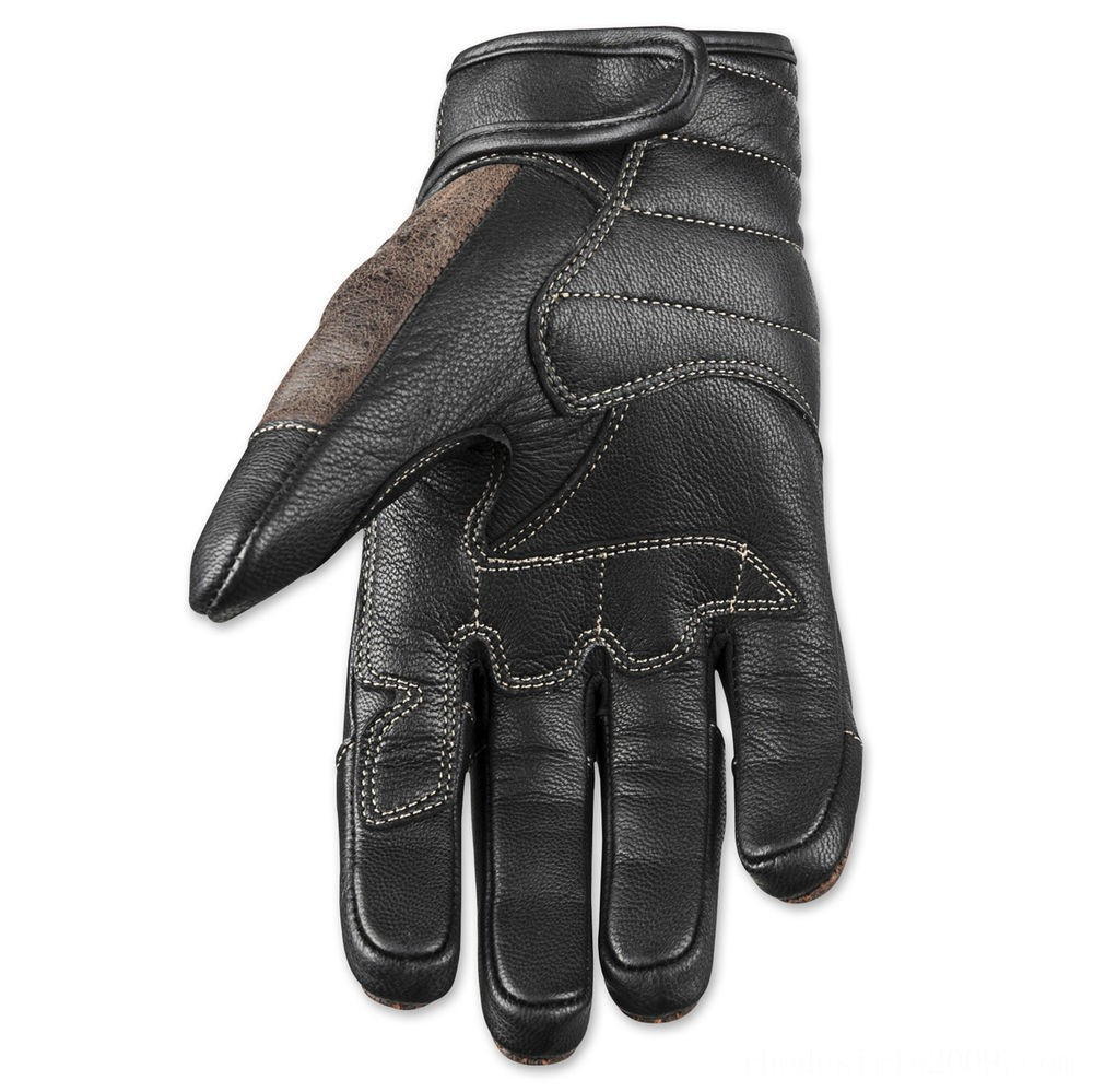 Black Friday Sale - Speed and Strength Rust and Redemption Distressed Dark Brown Gloves - 878624