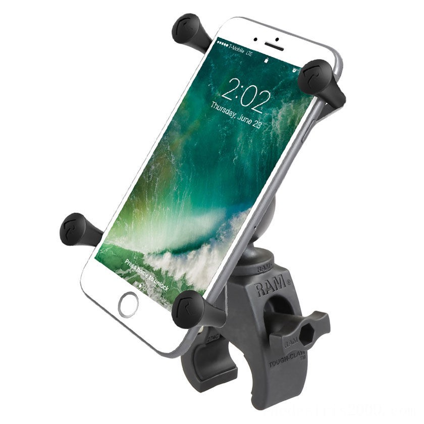 Black Friday Sale - Ram Mount Tough-Claw Mount with X-Grip Cradle for Large Phones - RAM-HOL-UN10-400U