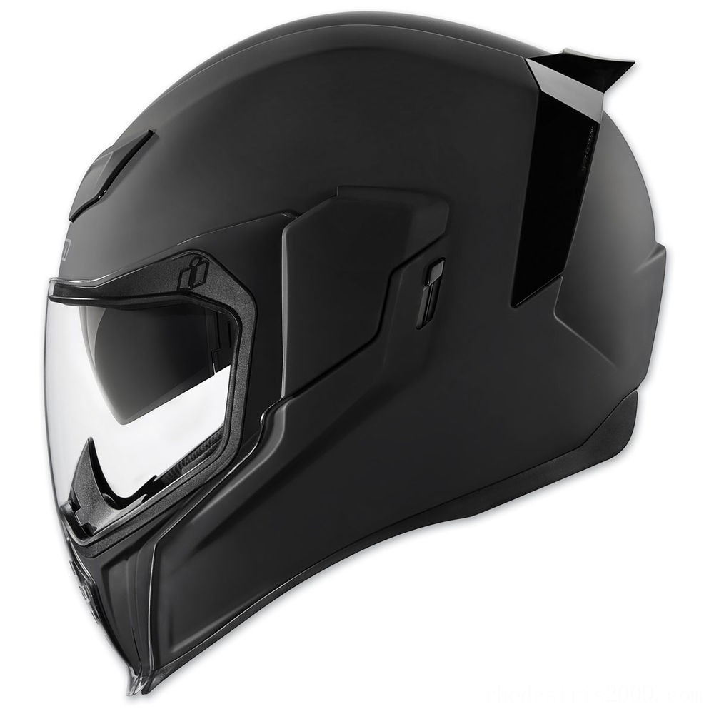 Black Friday Sale - ICON Airflite Rubatone Black Full Face Helmet - 0101-10850
