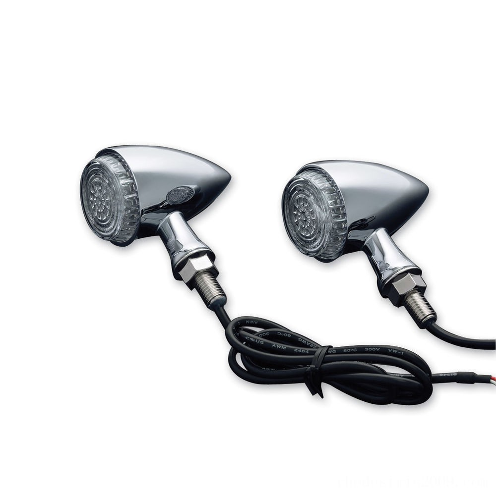 Black Friday Sale - Kuryakyn Chrome Torpedo Run-Turn-Brake Lights - 2507