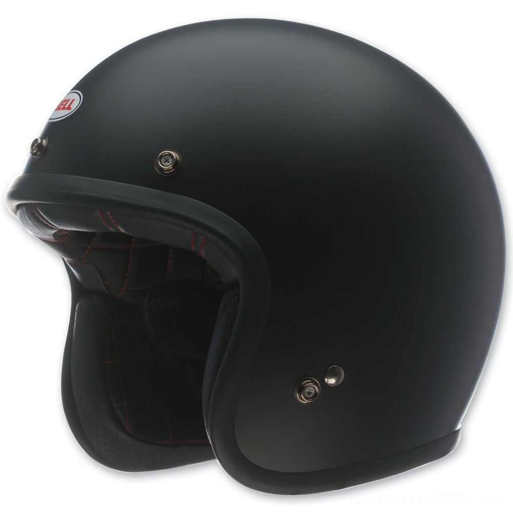 Black Friday Sale - Bell Custom 500 Matte Black Open Face Helmet - 7049170