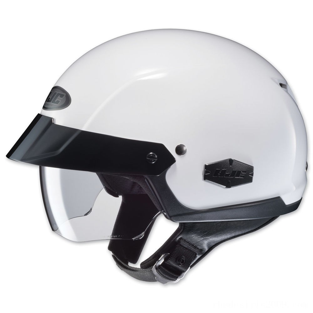 Black Friday Sale - HJC IS-Cruiser Solid White Half Helmet - 0824-0109-06