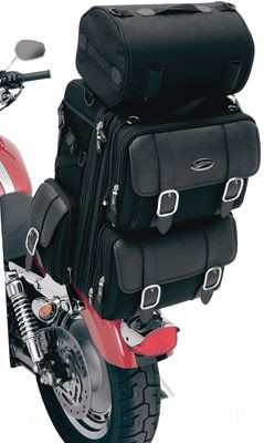 Black Friday Sale - Saddlemen S3200DE Deluxe Sissy Bar Bag - 35150086