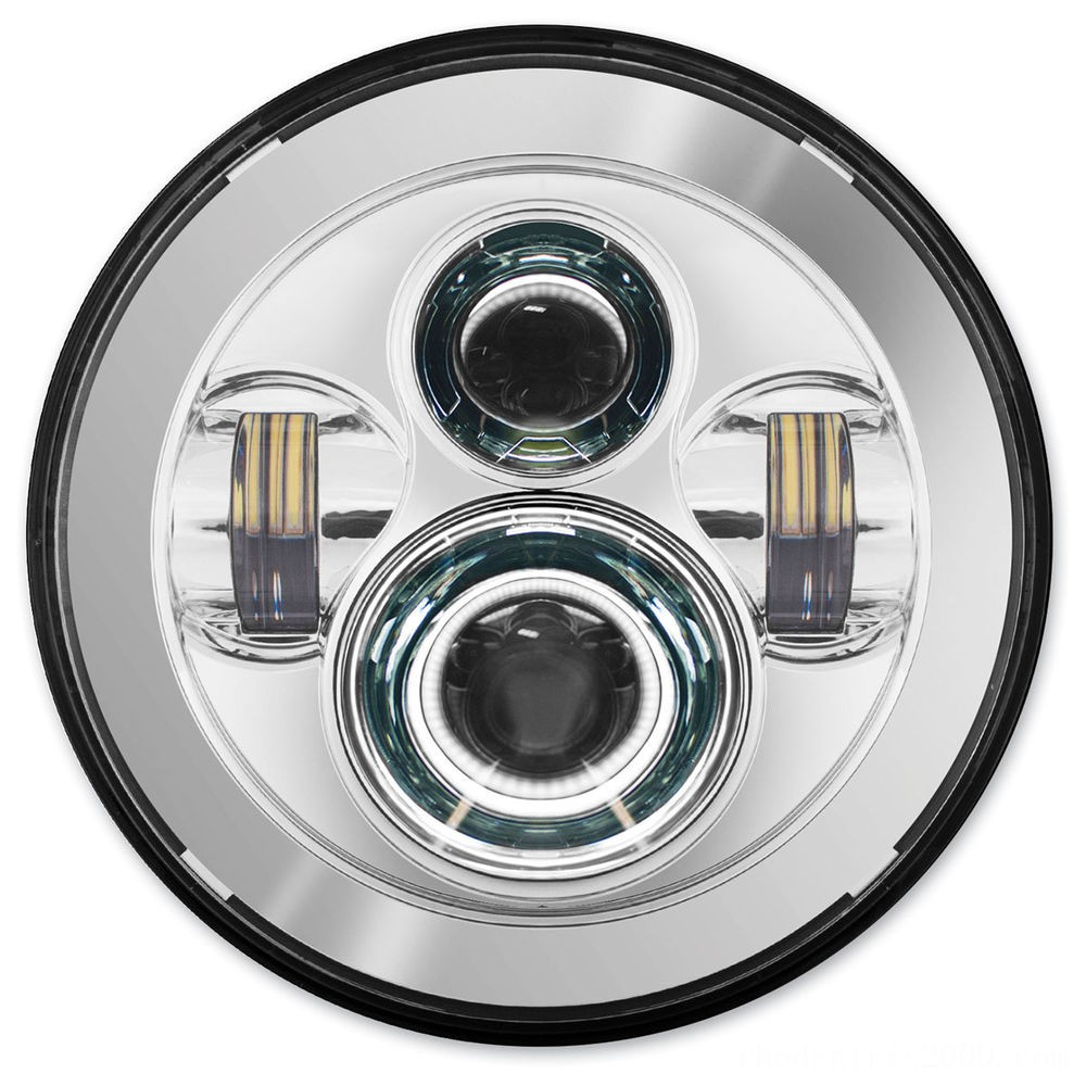Black Friday Sale - HogWorkz 7″ LED Daymaker Chrome Headlight Kit - HW195001