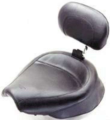 Black Friday Sale - Mustang Wide Vintage Solo Seat with Backrest - 79429