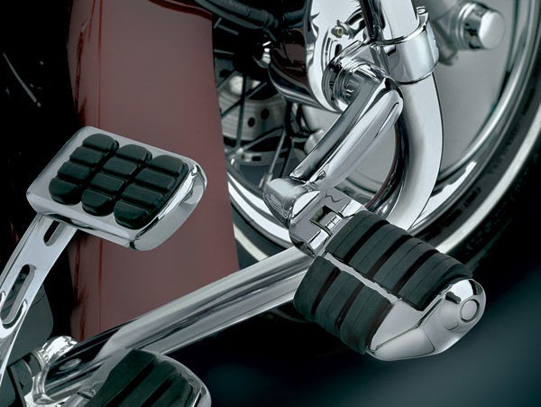 Black Friday Sale - Kuryakyn Longhorn Offset Dually Highway Pegs with 1-1/4″ Magnum Quick Clamps - 4575